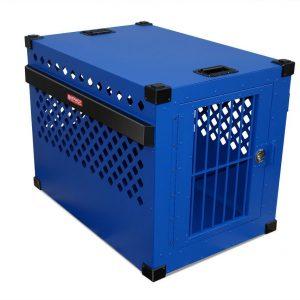 small aluminum dog crate
