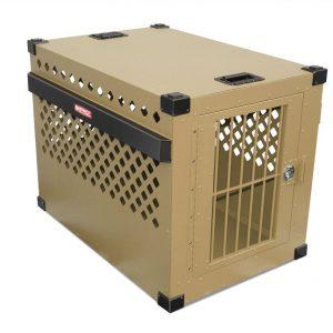 large aluminum dog crate